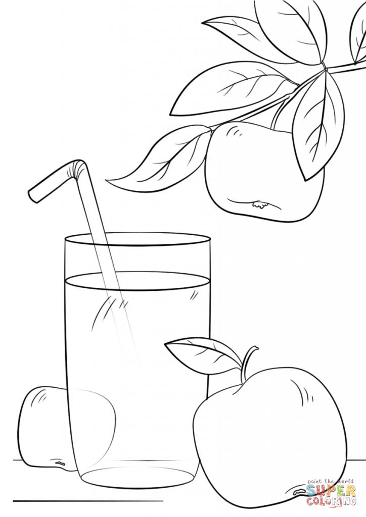 Gambar minuman jus epal