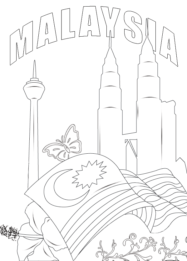 KLCC-Tower-Colouring-Page