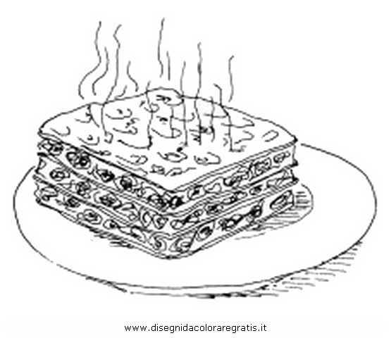 Gambar Mewarna Lasagna