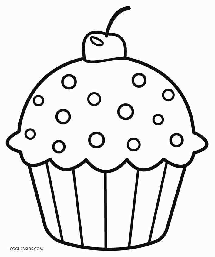 Gambar Mewarna Kek Muffin