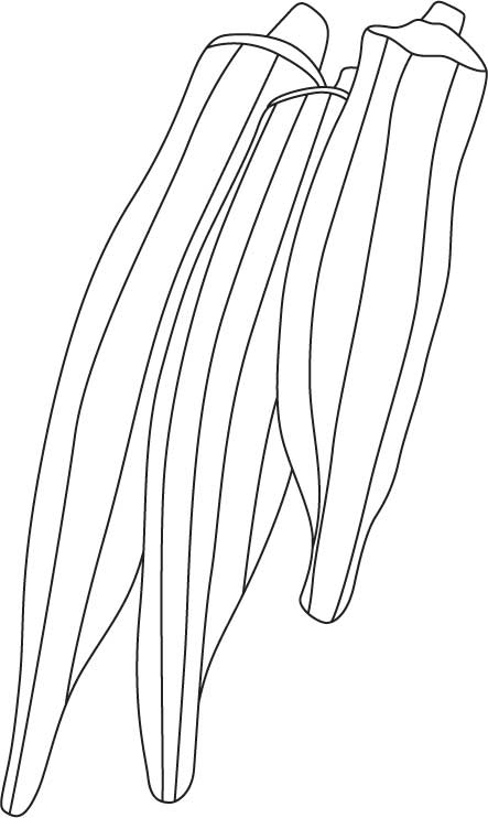 Okra-Colouring-Pages
