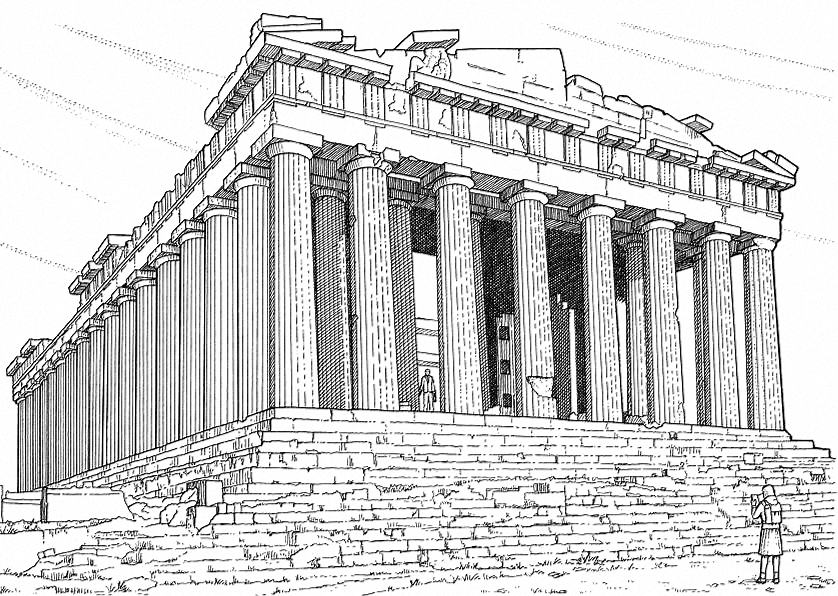 Pantheon-Rome-Colouring-Pages