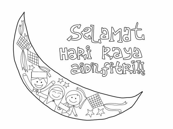 Poster Mewarna Selamat Hari Raya