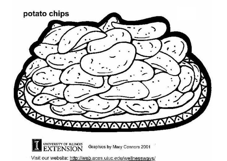 Potato-Chips-Colouring-Pages
