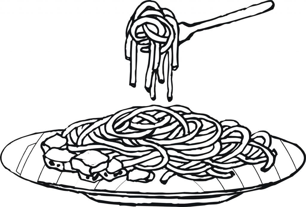 Gambar Mewarna Spaghetti