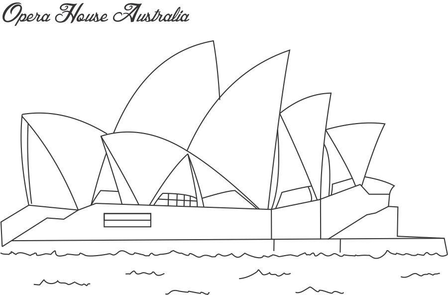 Sydney-Opera-House-Colouring-Pages