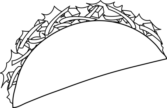 Tacos-Colouring-Pages