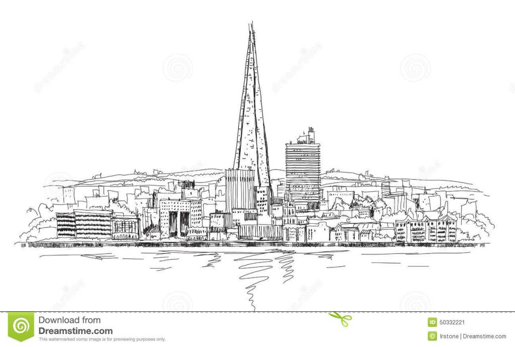 Gambar Mewarna Bangunan The Shard