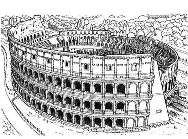Gambar Mewarna Colosseum Rome