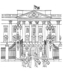 Gambar Mewarna buckingham palace