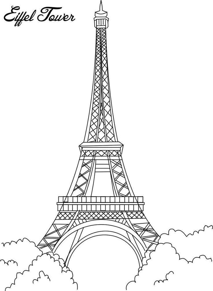 Gambar Mewarna Eiffel Tower
