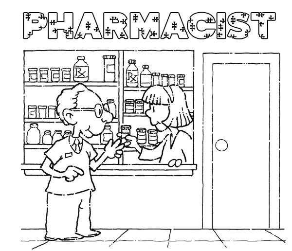 Gambar Mewarna Pegawai Farmasi