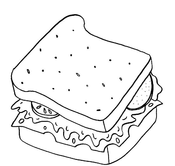 Gambar Mewarna Sandwich
