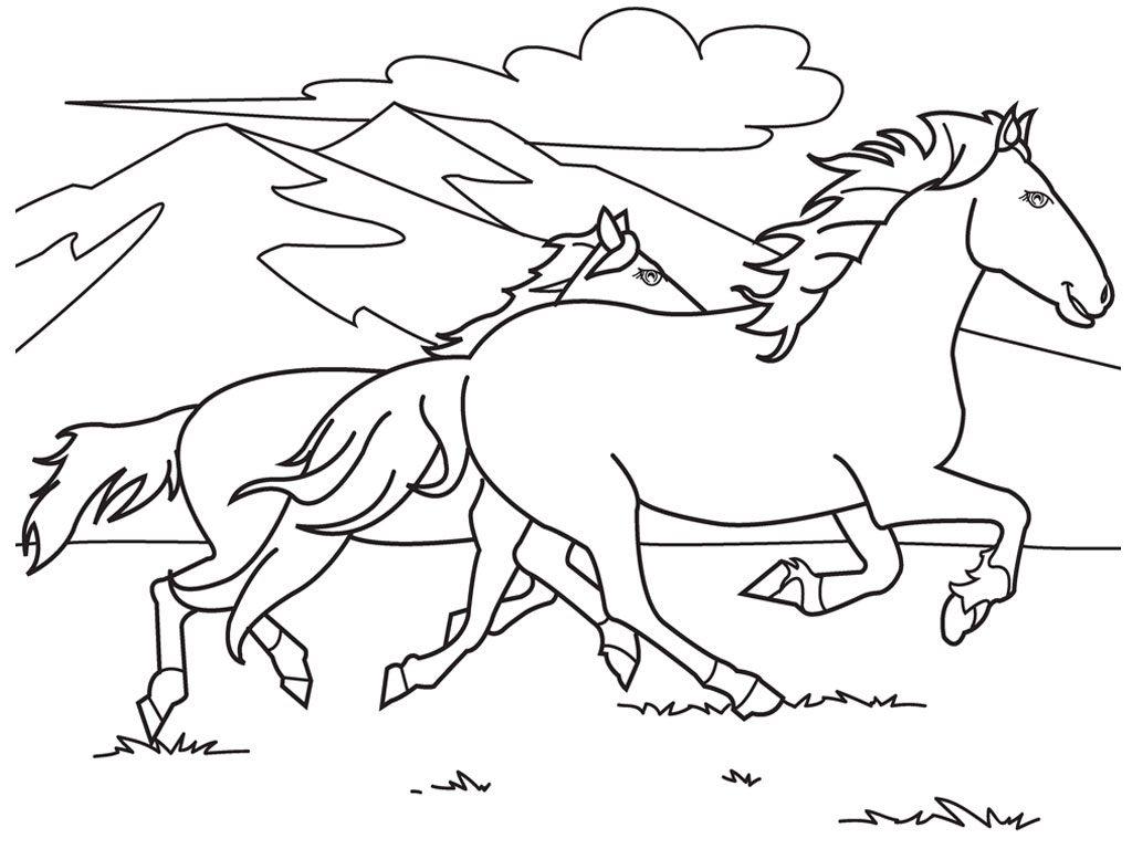54-pemandangan-alam-gunung-dan-binatang-kuda-berlari