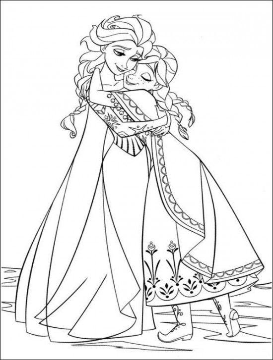 Elsa dan Anna Berpelukan