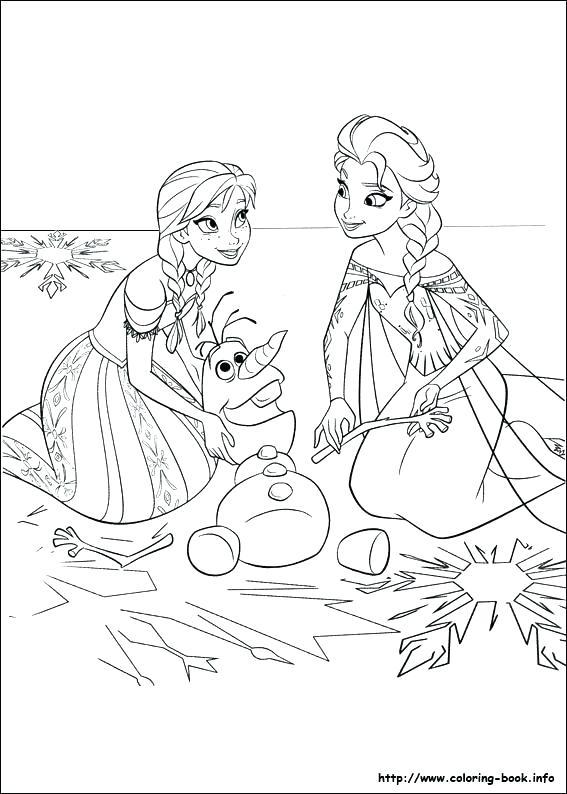 Elsa, Anna dan Olaf Sedang Bermain