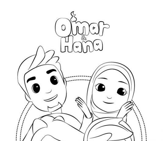 Gambar Mewarna Omar Hana
