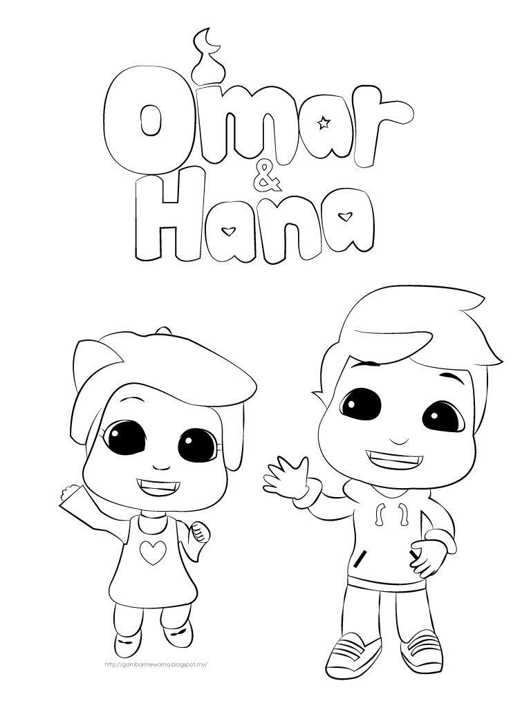 Gambar Mewarna Omar Hana Kartun Yang El Gambar Mewarna