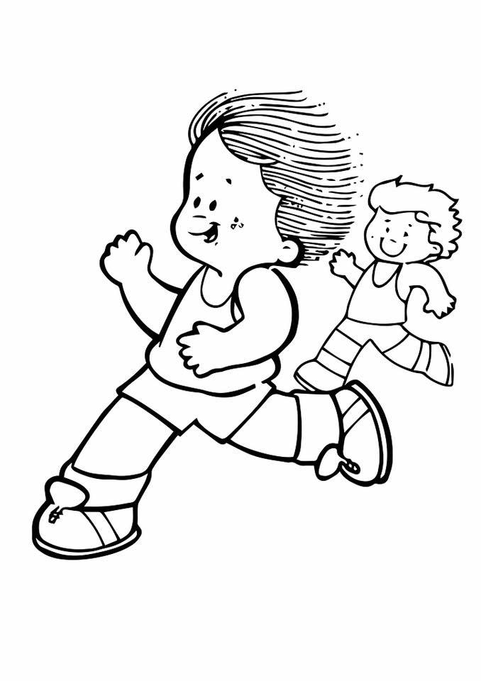 Gambar Mewarna Sukan Lari Marathon
