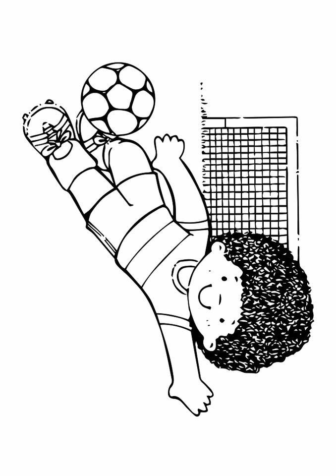 Gambar mewarna Sukan Bola Sepak
