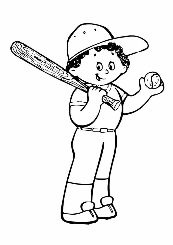 Gambar Mewarna Sukan Baseball