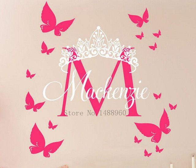 monogram wall art inspirational e85 diy custom name crown monogram poster paper for nursery kids of