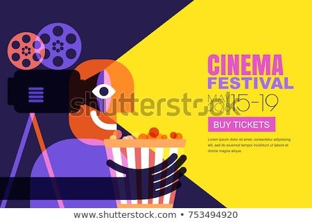 Background Poster Abstrak Meletup Vector Cinema Festival Poster Flyer Background Stock Vector Royalty