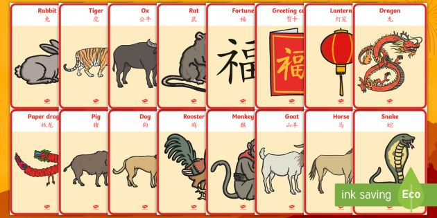 Chinese New Year Poster Bermanfaat New Chinese New Year Display Posters English Mandarin