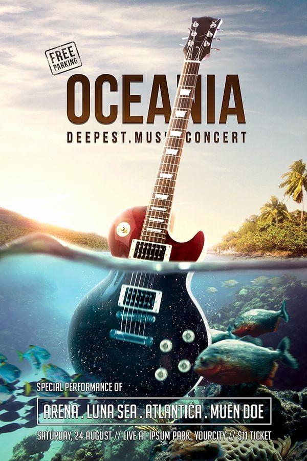 Concert Poster Berguna Concert Poster Template Unique Music Flyer Templates Flyers