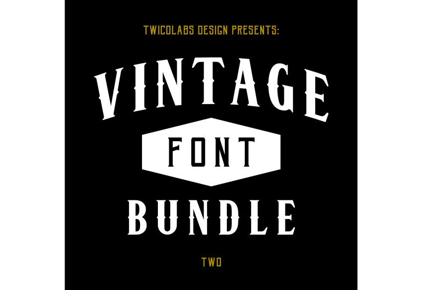 vintage fonts bundle 2