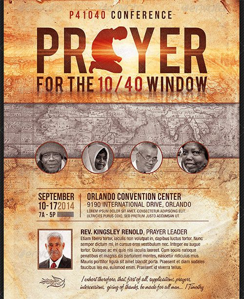 god prayer conference poster template
