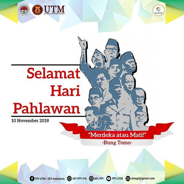 mari bersama kita perkokoh persatuan untuk membangun negeri dengan semangat kepahlawanan selamat hari pahlawan 10