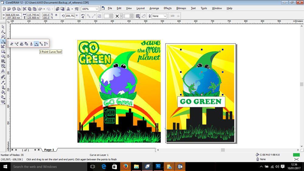 jadilah poster iklan layanan masyarakat go green