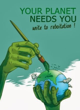Contoh Poster Pemanasan Global Bernilai Penanaman Pohon Sebagai Pencegahan Bencana Alam Dan Pemanasan Global