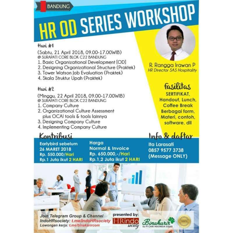 hr od series workshop bandung 21 22 april 2018