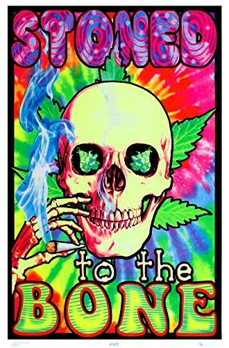 Drug Poster Bernilai Stoned to the Bone Blacklight Poster 23 X 35in How to Grow Pot