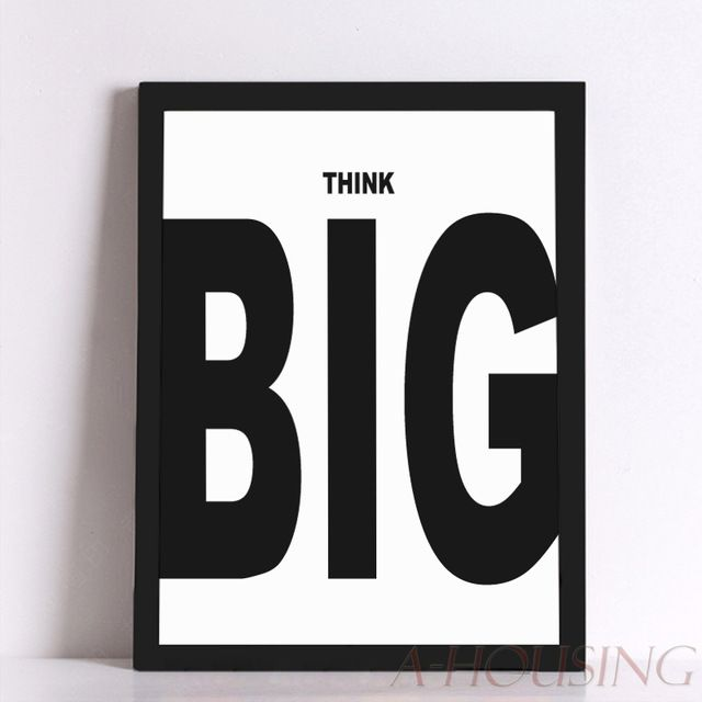 quote think big quote canvas art print poster wall pictures for home decoration frame