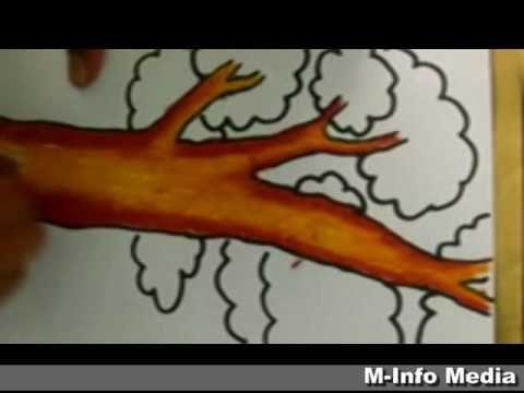 Gambar Baju Untuk Mewarna Terhebat Tutorial Mewarnai Pohon Dengan Cara Gradasi Warna Menggunakan Crayon