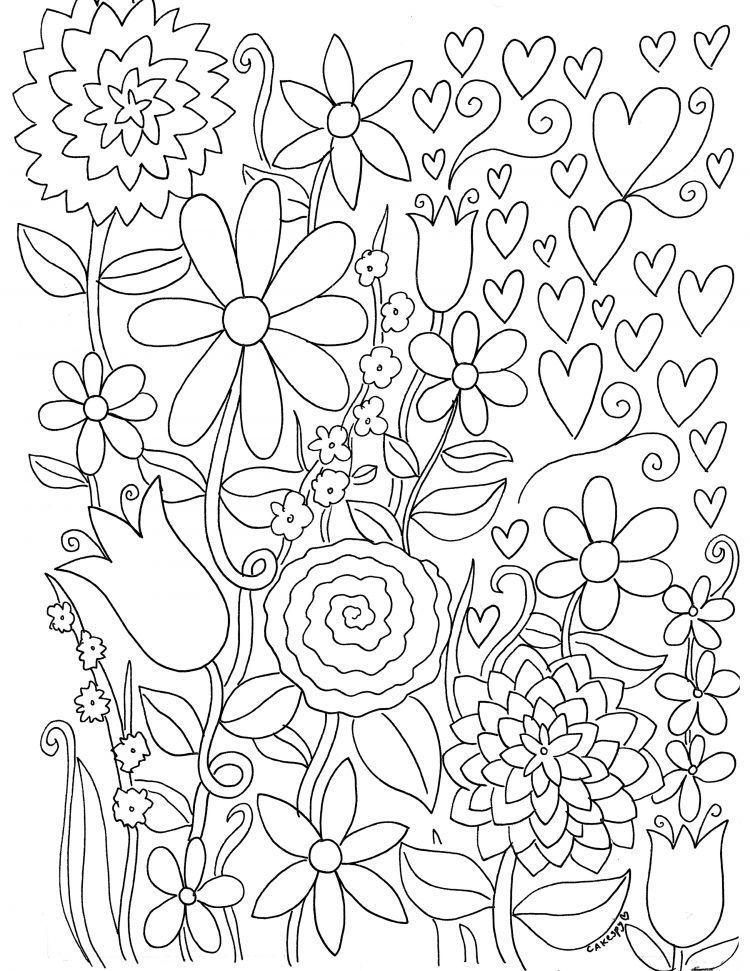 Link Download Bermacam Contoh Gambar Bunga Untuk Mewarna Yang Hebat