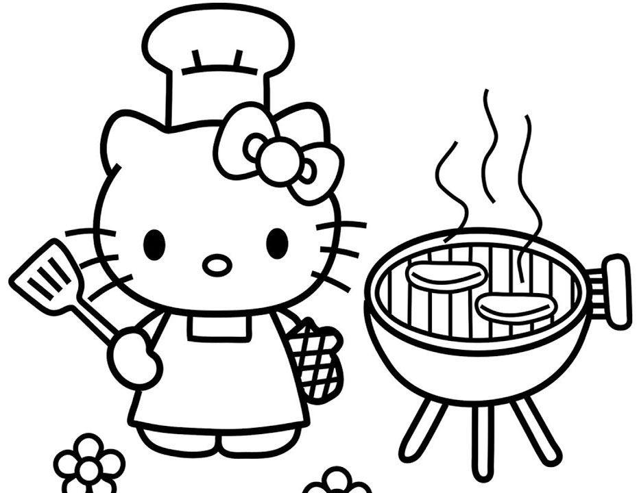 Jom Download Bermacam Contoh Gambar Hello Kitty Untuk Mewarna Yang
