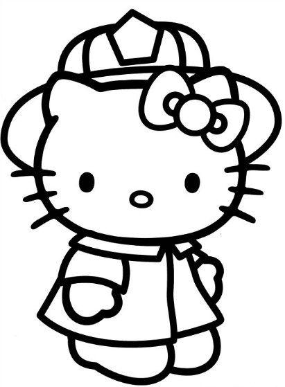 gambar kartun hello kitty untuk mewarnai