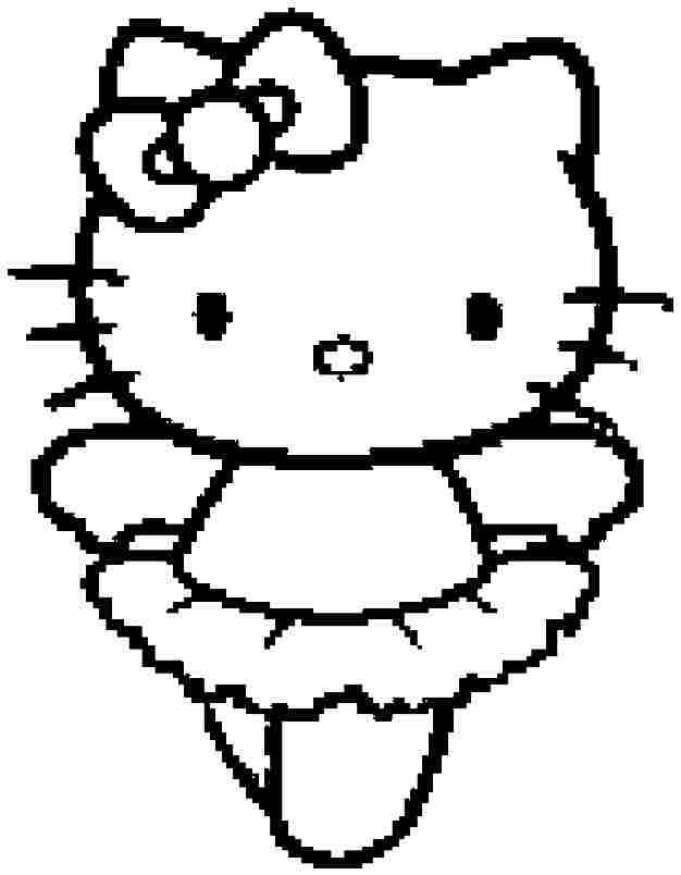cartoon hello kitty coloring pages printable for kindergarten