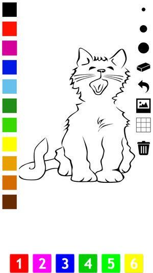 Gambar Kucing Untuk Mewarna Hebat Buku Mewarna Kucing Untuk Kanak Kanak Belajar Cat Di App Store