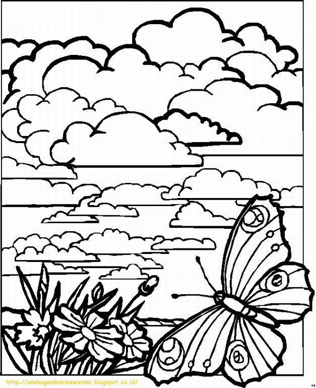 Download Cepat Himpunan Contoh Gambar Lukisan Mewarna Bunga Yang