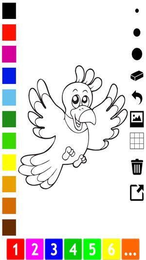 Gambar Lukisan Mewarna Meletup Aktif Buku Mewarna Burung Untuk Kanak Kanak Untuk Belajar Bagaimana