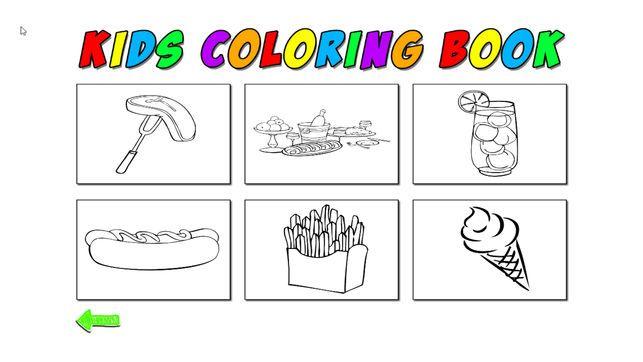 Gambar Makanan Untuk Mewarna Meletup Kids Coloring Food On the App Store