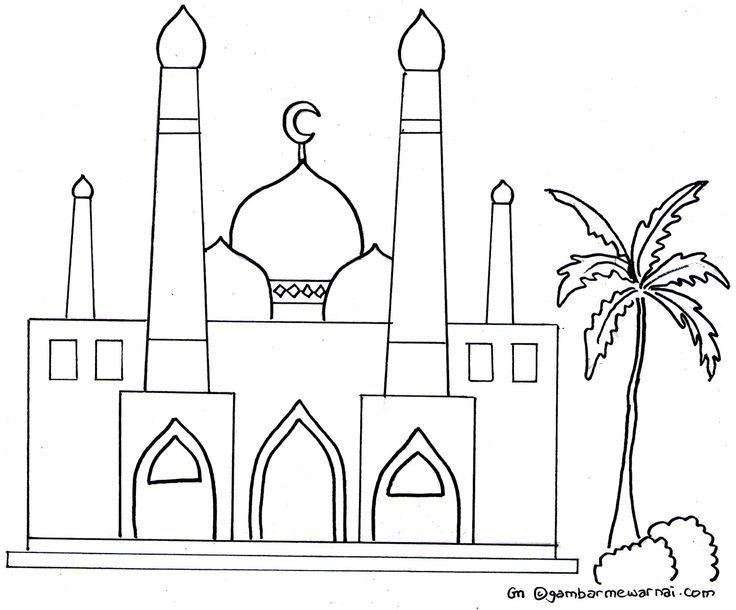 Muat Turun Bermacam Contoh Gambar Masjid Untuk Mewarna Yang Hebat