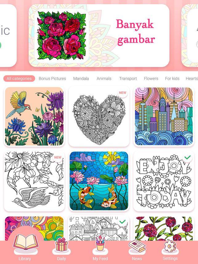 Gambar Mewarna 1 Malaysia Menarik Happy Color Buku Mewarna Di App Store