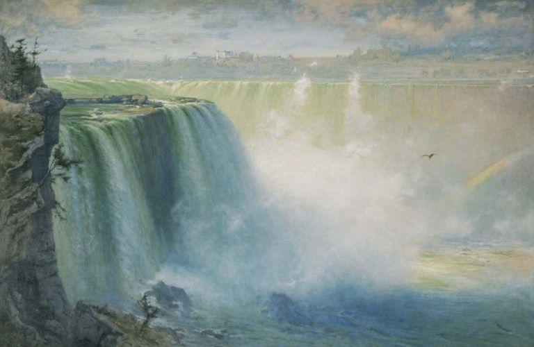 50+ Contoh Lukisan Pemandangan Di Air Terjun Gratis Terbaru