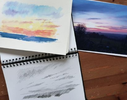 how to paint a sunrise and sunset 1